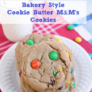 Bakery Style Cookie Butter M&M's Cookies