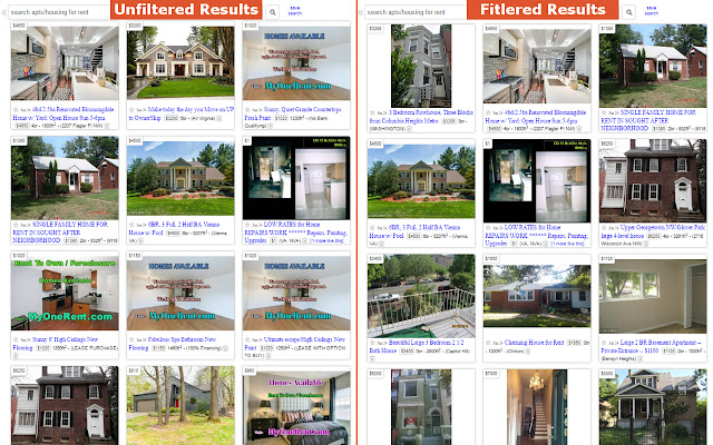 Craigslist Rental Search Filter