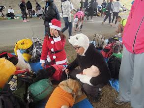 Photo: みぃなはサンタ、オオゴショは白熊
