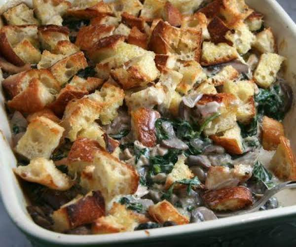 Spinach Mushroom Casserole Recipe