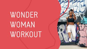 Wonder Woman Workout - YouTube Thumbnail template
