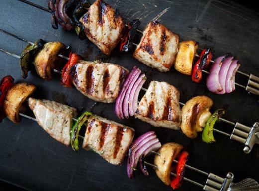 Grilled Tuna Kebabs With Wasabi Sauce Recipe