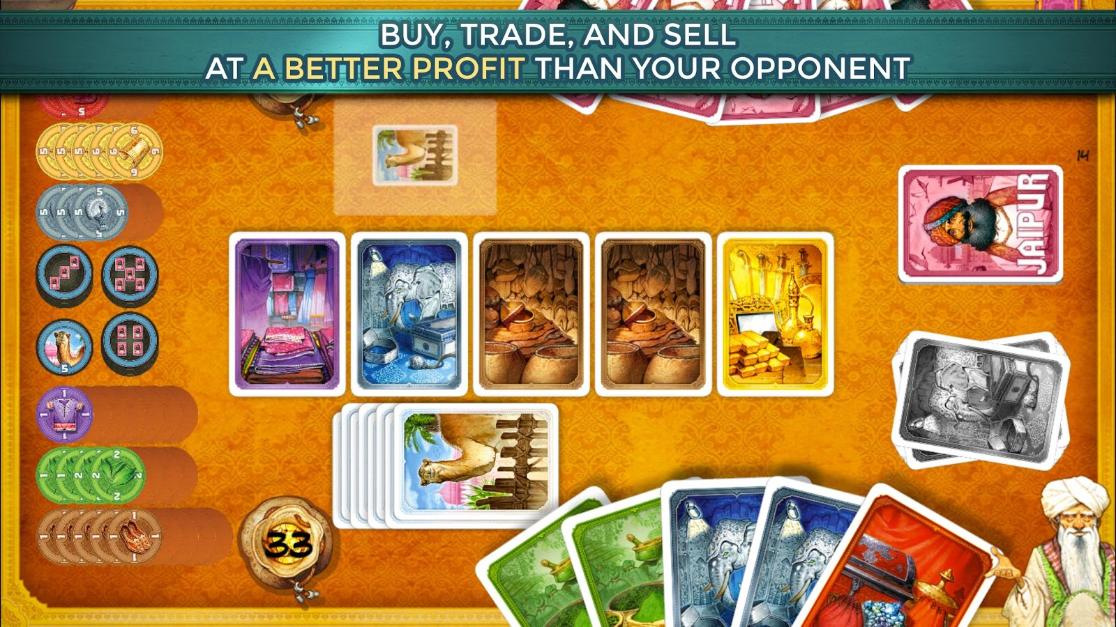 Jaipur: A Card Game of Duels- screenshot
