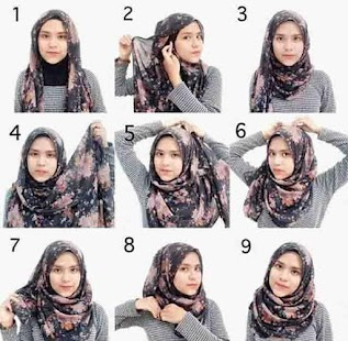 Tutorial Kreasi Hijab Segi Empat 2018 - náhled