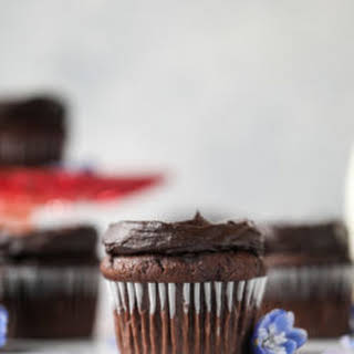 Chocolate Zucchini Cupcakes with Avocado Fudge Frosting.