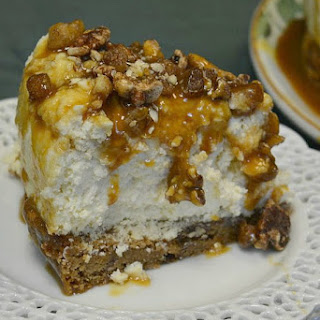 Blondie Bottom Caramel Praline Cheesecake