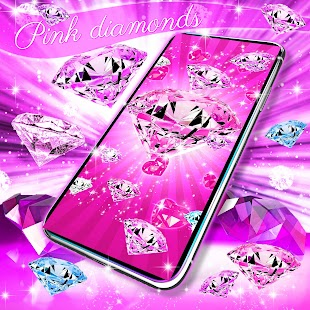 Pink diamonds live wallpaper - náhled