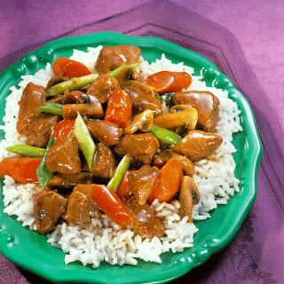 Red Cooked Pork & Vegetables.