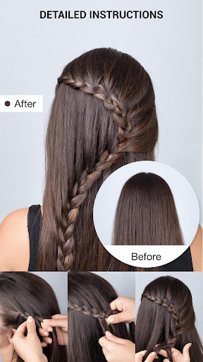School Hairstyles Step By Step, Braiding Hairstyle 1.0.4 screenshots 2