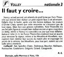 Photo: 04-03-2012 l'ASVB reçoit le 2è, Nancy Volley