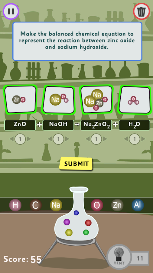 ChemEQ Game- screenshot