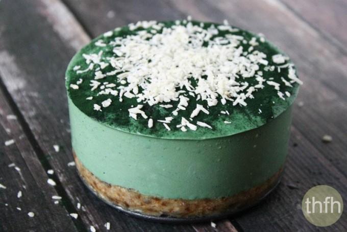 Raw Vegan No-Bake Spirulina Cheesecake with Spiral Spring Spirulina Maxima (Raw, Vegan, Gluten-Free, Dairy-Free, Soy-Free, Egg-Free, No-Bake,Paleo-Friendly, No Refined Sugar) Recipe