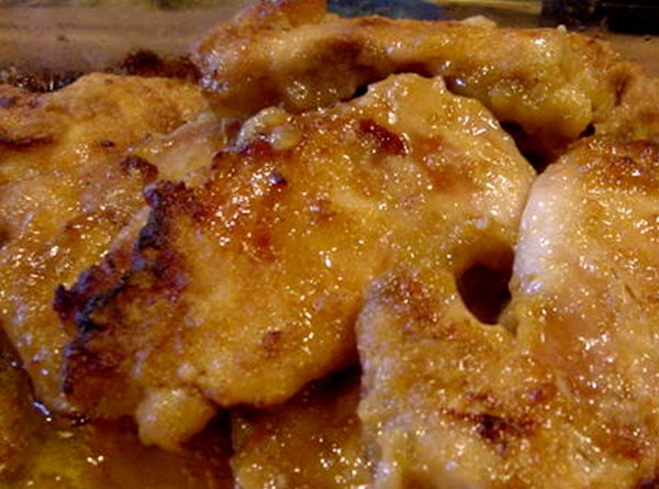 Oven Fried Chicken With Honey Lemon  Butter Sauce -- Bonnie's Recipe