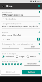 WhatsBot - AutoResponder Robot Chatbot Automatic Screenshot