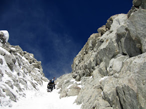Photo: Exit couloir