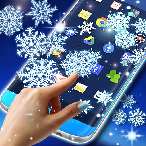 Snow on screen winter effect (app)