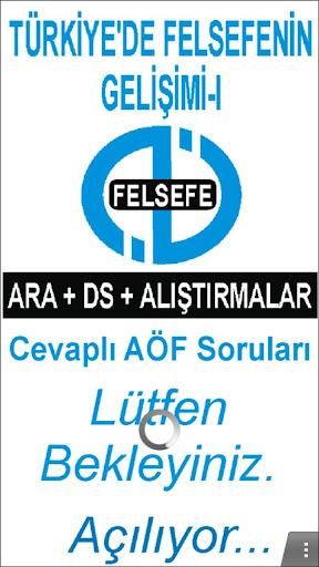 AÖF TÜRKİYE'DE FELSEFNİN GEL-I