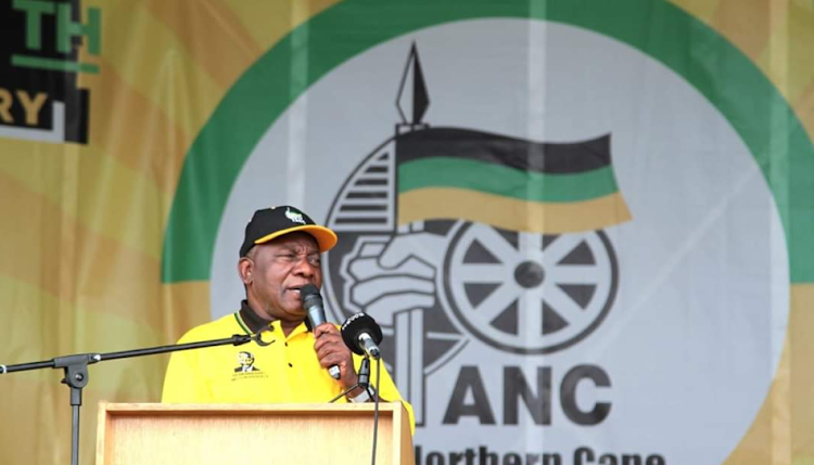 President Cyril Ramaphosa at the provincial launch of the people's manifesto at Galeshewe Stadium in the Northern Cape on February 2 2019