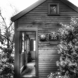 1830 House by Gerry Schmitt - Black & White Buildings & Architecture ( witches, 1800's, historical, house, salem )