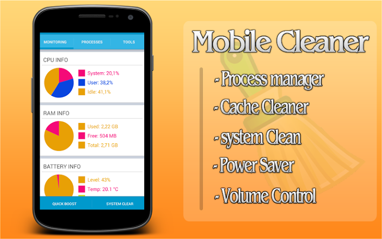 how to clear ram of android mobile