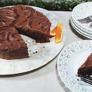 Chocolate Cake with Chocolate-Orange Frosting