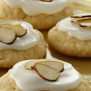 Glazed Almond Sugar Cookies