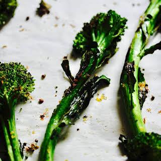 10 Minute Lemon Roasted Broccolini.