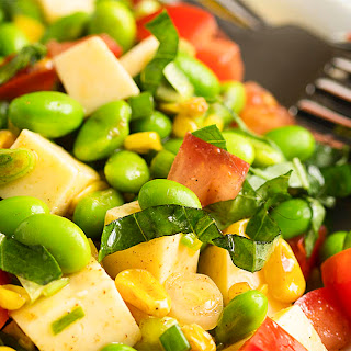Toasted Corn and Edamame Salad