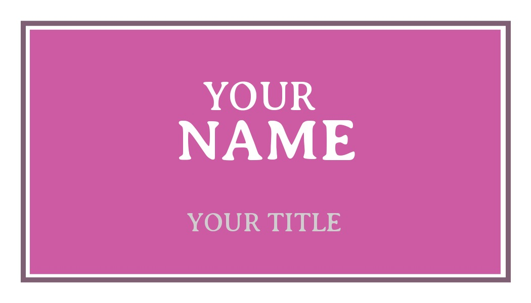 business card with pink