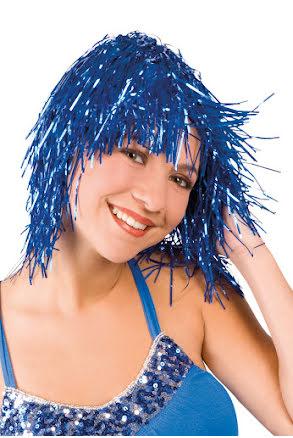 Glitterperuk, blå