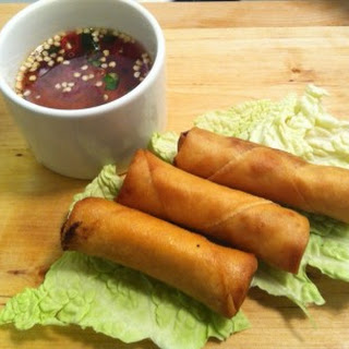 Vietnamese Spring Rolls (Cha Gio) with Fish Dipping Sauce Recipe