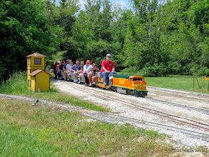 Photo: Engineer Brian Campopiano entering East Sumrall at 12:00 Noon.    HALS Public Run Day 2014-0419 RPW