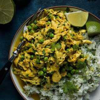 Easy Chicken Curry with Cilantro Lime Rice.