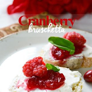 Cranberry Bruschetta (with homemade cranberry sauce)