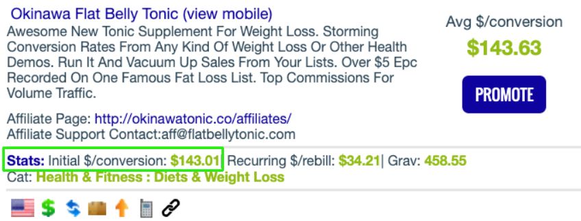 flat belly tonic $/conversion