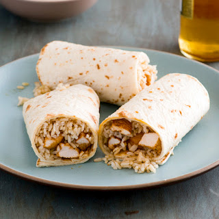 Chicken Burrito with Brown Rice