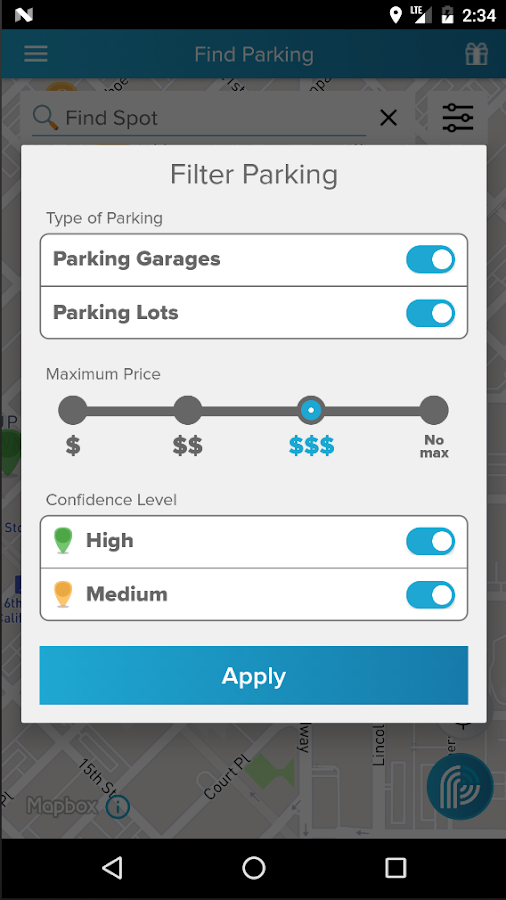 ParkiFi, Real-Time Parking App- screenshot