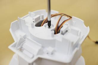 Photo: 銀色のネジ(タッピング3mm)で締めて固定します。