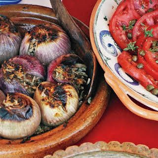 Roasted Stuffed Red Onions.