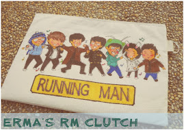 An A4-sized Animated RUNNING MAN team Clutch Purse for Erma Fatihah