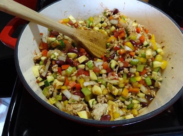 Cover, bring to boil, stir, reduce heat, let simmer on low until all vegetables...