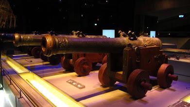 Photo: Laivo patrankos, kurių buvo 64.