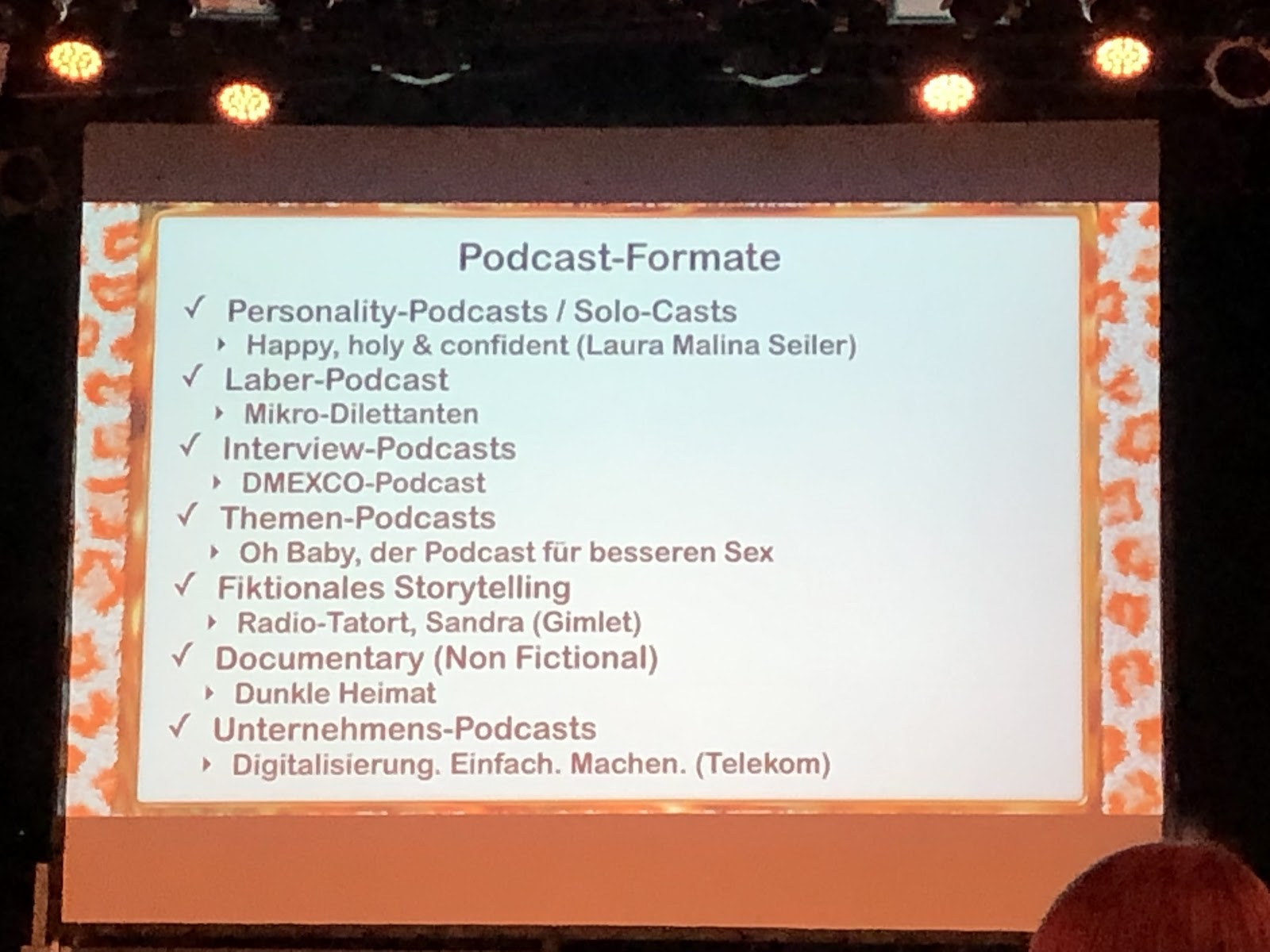Podcast-Formate