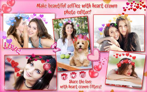 Heart Crown Photo Editor ? Selfie Camera App 1.3 screenshots 14