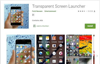 transparent screen apps