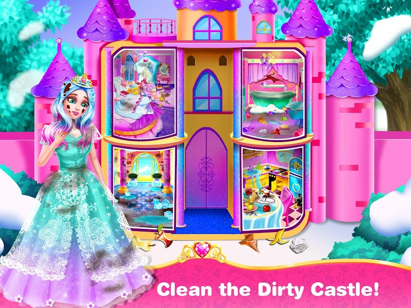 Princess Home Cleaning – House Clean Games screenshot 1