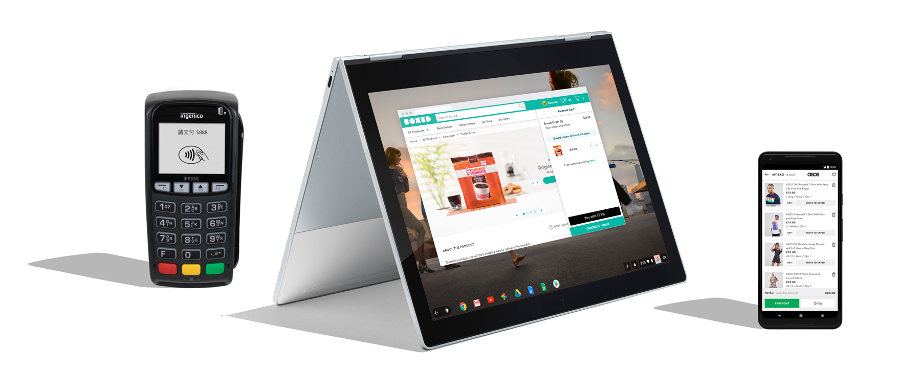 Payment Terminal, Wear OS by Google, Google Pixelbook, Google Home and Google Pixel 2