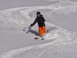 Photo: Trevor skiing the Fontaine Froide