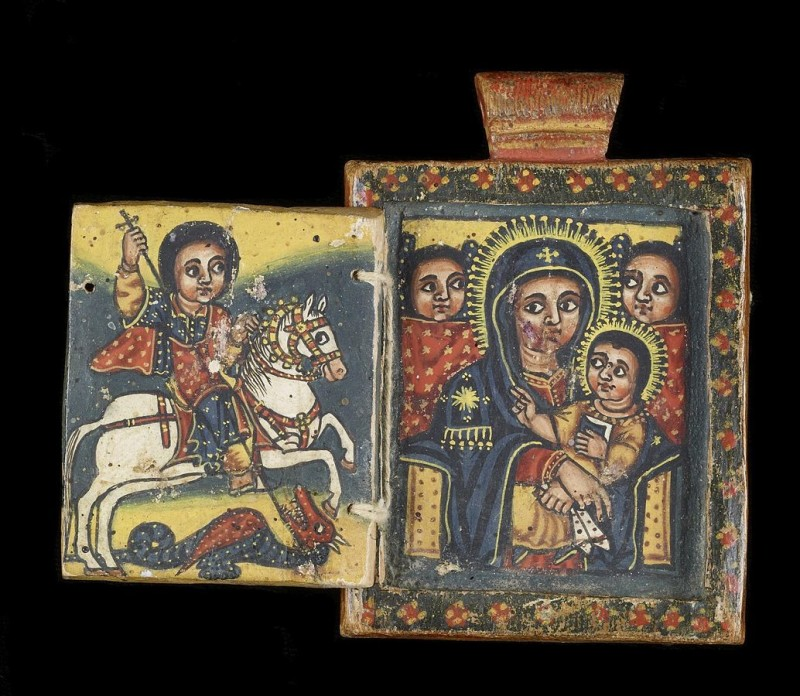 1034px-Ethiopian_-_Front_of_a_Double-Sided_Diptych_with_Mary_and_Her_Son,_and_Saint_George_-_Walters_365_-_Open_A