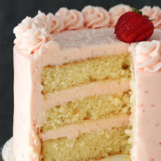 Strawberry Moscato Layer Cake